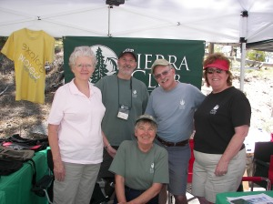 Sierra Club reps Mary and Dave Barrie, Don Fischer, JoAnn Fischer and Heather Sergeant had a good time at the Forest Festival a couple of years ago discussing environmental and other topics with guests.