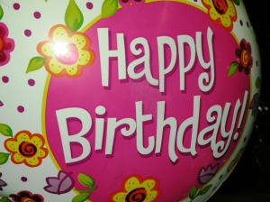 Happy birthday to you, happy birthday to you, happy birthday to you-oo, happy birthday to you! Have fun!