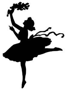silhouette, girl dancing