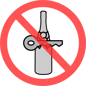 Drinking and driving symbol