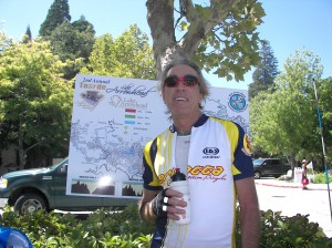 Organizer Hugh Bialecki at the end of last year's race. It was fabulous!