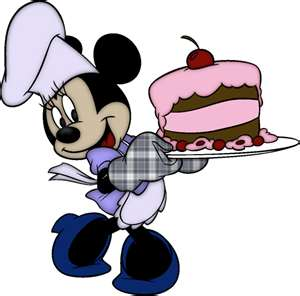 Minnie Mouse with Birthday cake