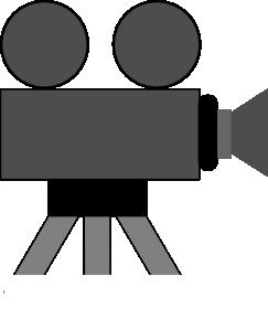 movie camera artwork