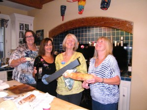 """Think these local women were having fun at the first """"Kitchen Tour?"""" Yep, they had a ball and you can tell that they did!"""
