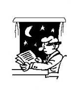 man working late cartoon