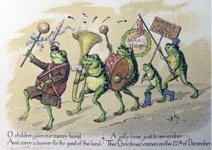 Christmas frog parade