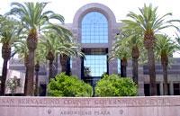The County Government Center in San Bernardino.