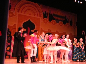 Last year's colorful curtain call. Beautiful costumes and sets. You'll love it!