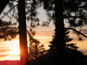 Hwy . 330 sunset