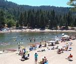 Havin' a great time at Lake Gregory beach.