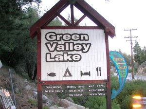 Green Valley Lake Sign
