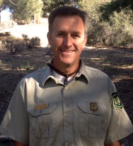 New Mountaintop District Ranger Marc Stamer was one of several Forest Service employees who attended the dedication ceremony.