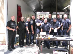 Are these great men and women? You bet! They're the firefighters at the Running Springs Fire Department who hosted a fun community breakfast. The community thanks them...and vice-versa.