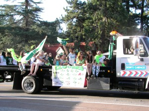 Members of the Arrowbear Women's Softball League were a jubilant part of this parade, as they are each year!