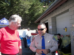 A lot of people had the chance to talk to CHP officers during the Emergency Services Day. It was a great success! (Again!)