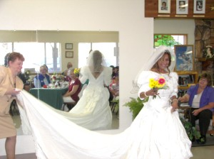 A beautiful bride....a wedding dress any bride would adore. It was at the thrift store. How beautiful and sentimental!