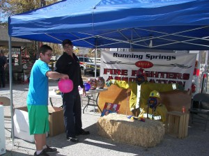 Members of the Running Springs Fire Department are always on hand with information and candy, of course.