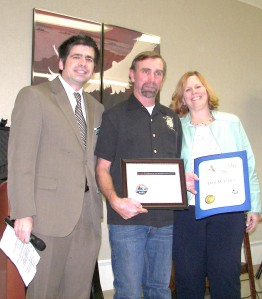 Longtime Running Springs resident Danny Wagner was honored for his contributions to