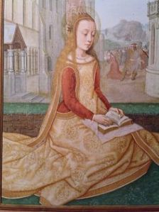 Renaissance woman reading