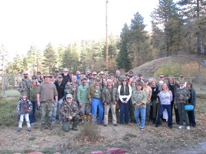 "His friends and family wore ""camo"" for Steve's love of the outdoors."