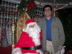 Everybody loves Santa including Running Springs Area Chamber of Commerce President Kevin Somes. Merry Christmas to both of you!