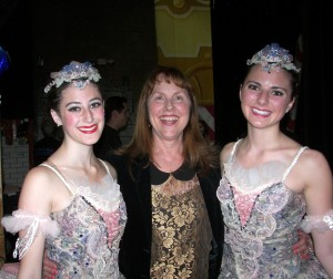 Ballet Company Director Sharon McCormick with some of the ballerinas just prior to the Saturday night performance. it's always breathtaking!