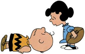 Get off the floor, Charlie Brown. We need to go see Senator Morrell's staff. They can probably help us (and boy do we (you!) need help!