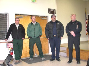 Representatives from Caltrans, the U.S. Forest Service, the local CPH and R.S. Fire Department took part in the important community meeting that dealt with enormous problems for R.S. area residents over the New Year holiday.