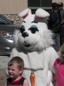 This year the Easter Bunny must have taken his vitamins because he was all over the place greeting children. He had a great time before it was time to hop away!