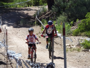 Even children got into the spirit of this fun event at Rim Nordic. It was great to see them biking together,side-by-side!