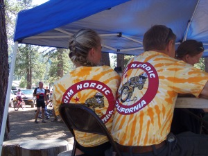"""It was definitely exciting to see so many team members with their colorful shirts at this fun annual (challenging) bike race. A big""""high five"""" to all the bicyclists who took part."""